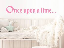 Amazon Com Story Of Home Llc Once Upon A Time Wall Decal Nursery Wall Decal Kids Room Wall Decal Nursery Wall Sticker Kids Room Wall Sticker Vinyl Wall Decal Home Kitchen