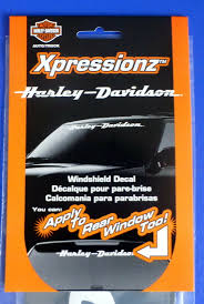 Chroma Harley Davidson Script Text White Vinyl Car Auto Windshield Strip Decal For Sale Online Ebay