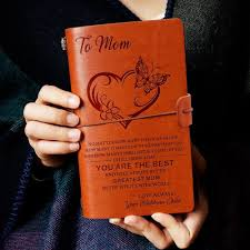 to my mom eather journal notebook diary custom quotes gift
