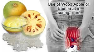wood apple or bael fruit to cure piles