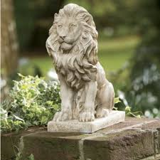 lion statue from through the country
