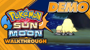 Pokémon Sun and Moon Special Demo Version - FULL walkthrough and ...