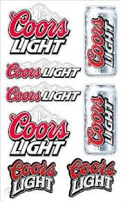 8 Mixed Coors Light Beer Decal Sticker Graphic Mr41 145543401