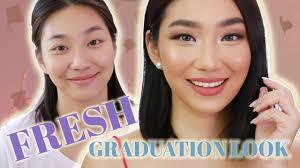 simple and fresh graduation makeup look