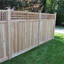 Amazon Com Signature Development 6 Ft H X 6 Ft W Western Red Cedar Checker Lattice Top Fence Panel Kit Garden Outdoor