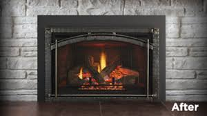 wood gas fireplaces inserts