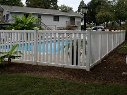 Maryville American Classic Vinyl Pool Picket Fence Bryant Fence Company