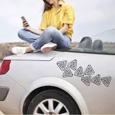 Triangle Sticker Car Decal Geek Carbon Fiber Bumper Etsy