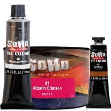 soho urban artist oil color paints