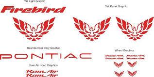 Product Pontiac Firebird Trans Am Bundle Graphic Decal Set 1998 2001