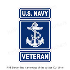 Us Navy Veteran Military Bumper Sticker Vinyl Window Decal