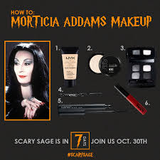 morticia addams makeup skin nails