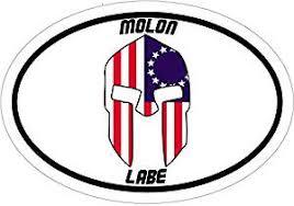 Buy Spartan Helmet American Flag Molon Labe Vinyl Decal Sticker Great For Truck Car Bumper Or Tumbler Perfect Handgun Gun Rights 2nd Amendment Supporter Gift Made In The Usa