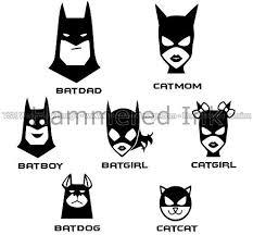 Batman Family 7 Faces Die Cut Vinyl Car Truck Decal Window Sticker Amazon Ca Home Kitchen