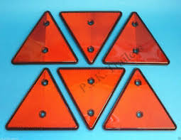 Triangle Reflectors For Driveway Fence Posts Garden Walls Trailers Ebay