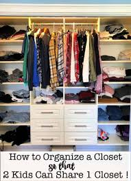 How To Organize Your Kids Closet So That Two Kids Can Share One Closet Momof6