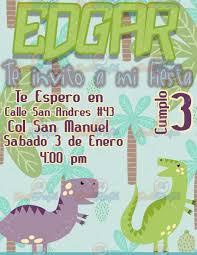 Invitacion Para Fiestas Infantiles Dinosaurios 80 00 En