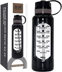 com 32 oz glass water bottle