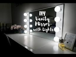 diy vanity mirror with lights under
