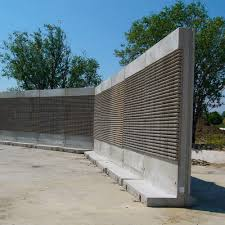 Self Supporting Noise Barrier Freestanding System Paver Prefab Reinforced Concrete