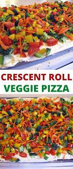 easy veggie pizza pillsbury crescent