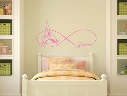 Personalized Sticker Girls Name Wall Decal Vinyl Decals Etsy Bedroom Themes Paris Themed Bedroom Vinyl Wall Decals