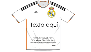 Camiseta Recortable Del Real Madrid Para Carteles Y Etiquetas