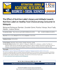 the effect of nutrition label literacy