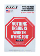 Home Security Window Decal Nothing Inside Is Worth Dying For Pack Of 12 For Sale Online