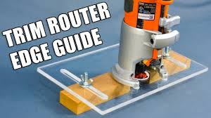 Making A Trim Router Edge Guide Jig Palm Router Edge Guide Youtube