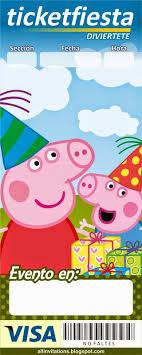 Invitacion Tipo Ticketmaster Peppa Pig Plantillas Para