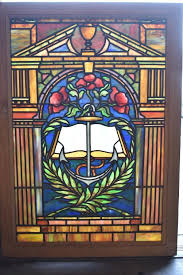 antique stained glass window anchor