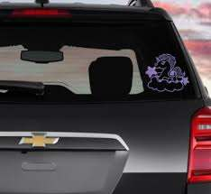 Unicorn On A Cloud Car Decal Laptop Decal Permanent Decal Etsy Patterned Vinyl Vinyl Decals Beautiful Unicorn