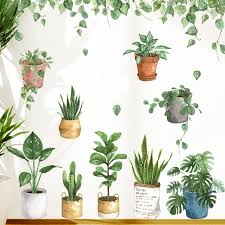 Pot Plants Removable Wall Stickers Wall Decal Kids Room Home Decor Art Mural Diy Ebay