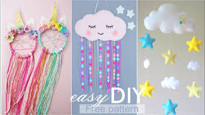 Diy Room Decor Easy Crafts Sute Cloud For Kids Room Wall Decoration Diy Room Decor For Kids Youtube