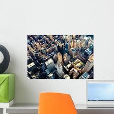 Aerial Midtown Manhattan Ny Wall Decal Wallmonkeys Com
