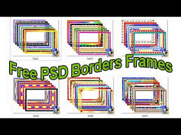 psd borders frames for photo free