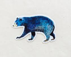 Blue Bear Sticker Waterproof Vinyl Sticker Wildship Studio