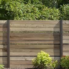 Build A Cedar Fence With Open Panels 1 Rona