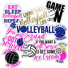 Amazon Com Volleyball Stickers 10 Pack Perfect Choice For Motivational Volleyball Water Bottle Stickers Anywhere You Need Volleyball Decals Or Laptop Stickers Waterproof Durable 100 Vinyl Kitchen Dining