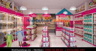 Thiết kế - thi công shop mẹ và bé chị giá rẻ 40m2