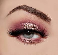 pink gold glitter eye makeup saubhaya
