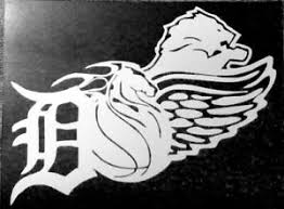 Detroit Redwings Tigers Pistons Lions Vinyl Decal Ebay