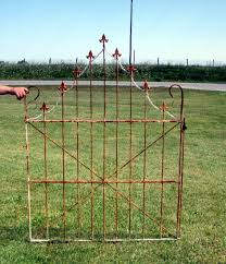 66 rusty wrought iron white swag gate
