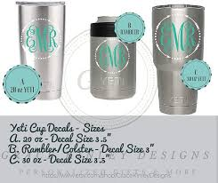 Yeti Monogram Cup Decal Approx 3 5 Quot Arrow Frame Cup Decal Yeti Cup Monogram Monogram Cups
