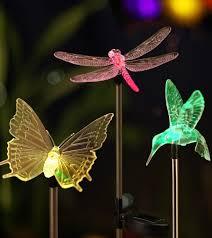 multi color changing led garden lights