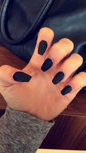 acrylic nails coffin shape matte how