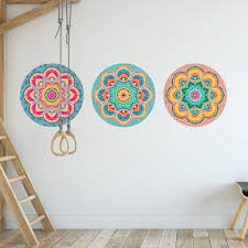 Colorful Mandala Wall Stickers Large Vinyl Wall Decals Etsy