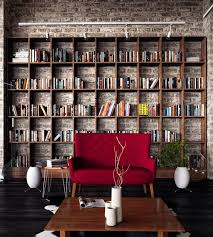 exposed brick wall with images home