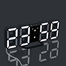 2020 3d Led Digital Alarm Clock Snooze Hanging Wall Clock 12 24 Hour Calendar For Kids Room Bedroom Desk Home Decoration From Galry 29 79 Dhgate Com